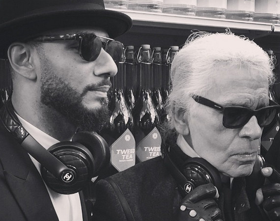 Swiss-Beatz-and-Karl-Lagerfeld-with-Chanel-x-Monster-headphones-